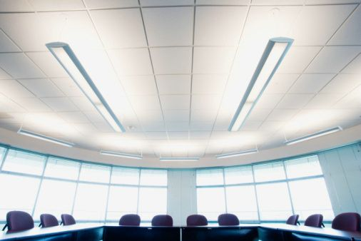 surface mounted fluorescent suspended light 2x54w office lighting