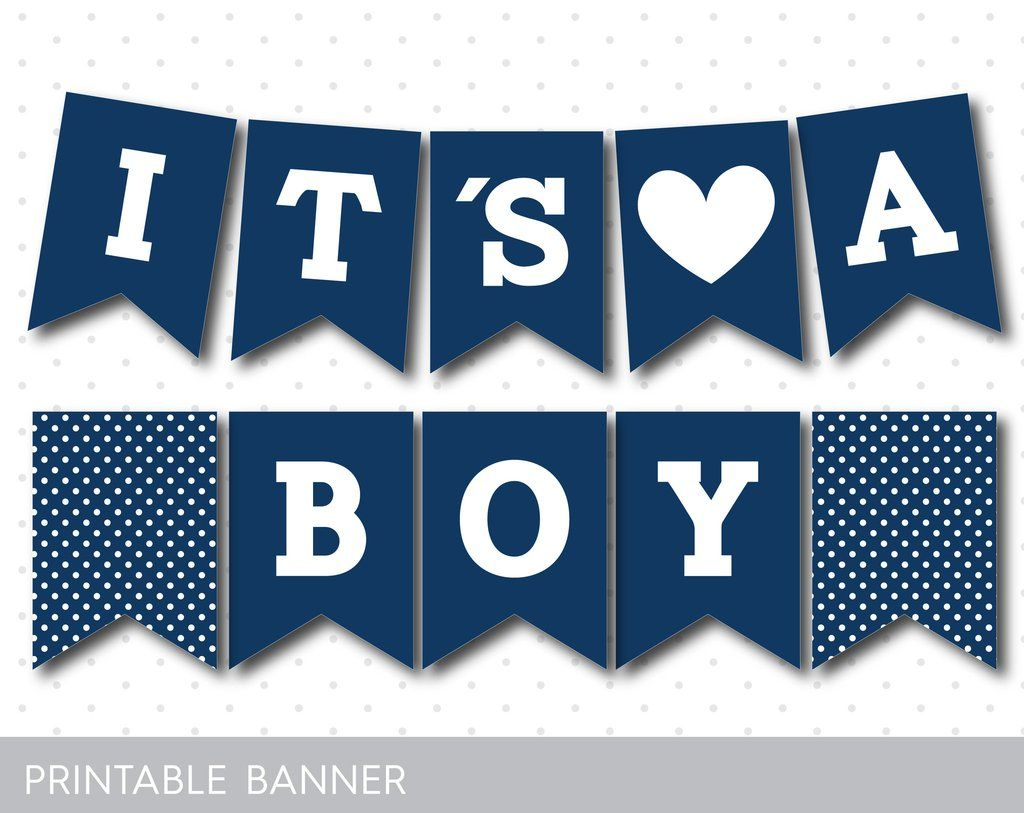 photograph regarding Welcome Baby Banner Free Printable identify Armed forces blue printable it´s a boy kid shower banner, PB-289