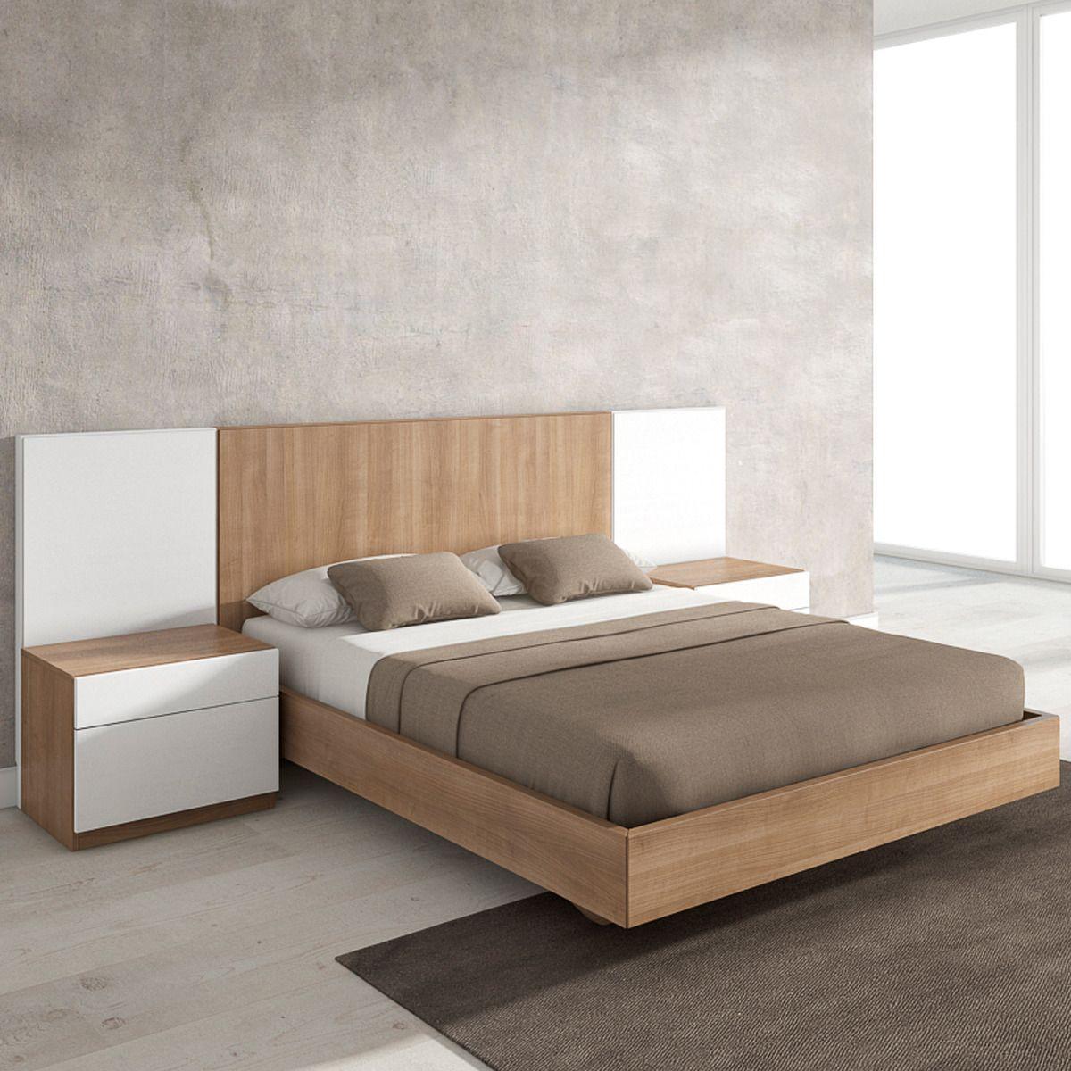 современные спальни дизайн: Mesita De Noche Con 2 Cajones Metrópolis Blanco
