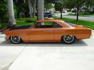 Good looking pro touring style nova Muscle cars