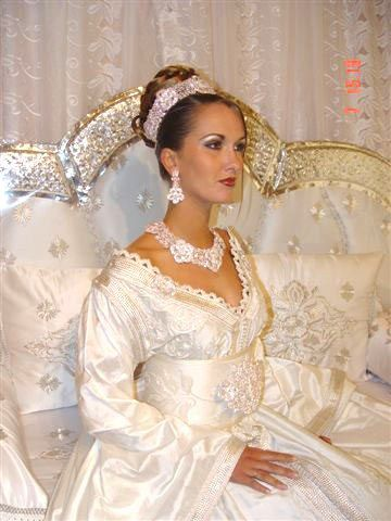Robe de mariee blanche marocain
