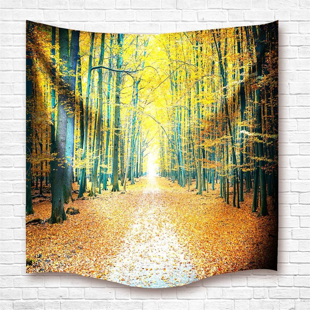 Golden Grove 3D Digital Printing Home Wall Hanging Nature Art Fabric ...