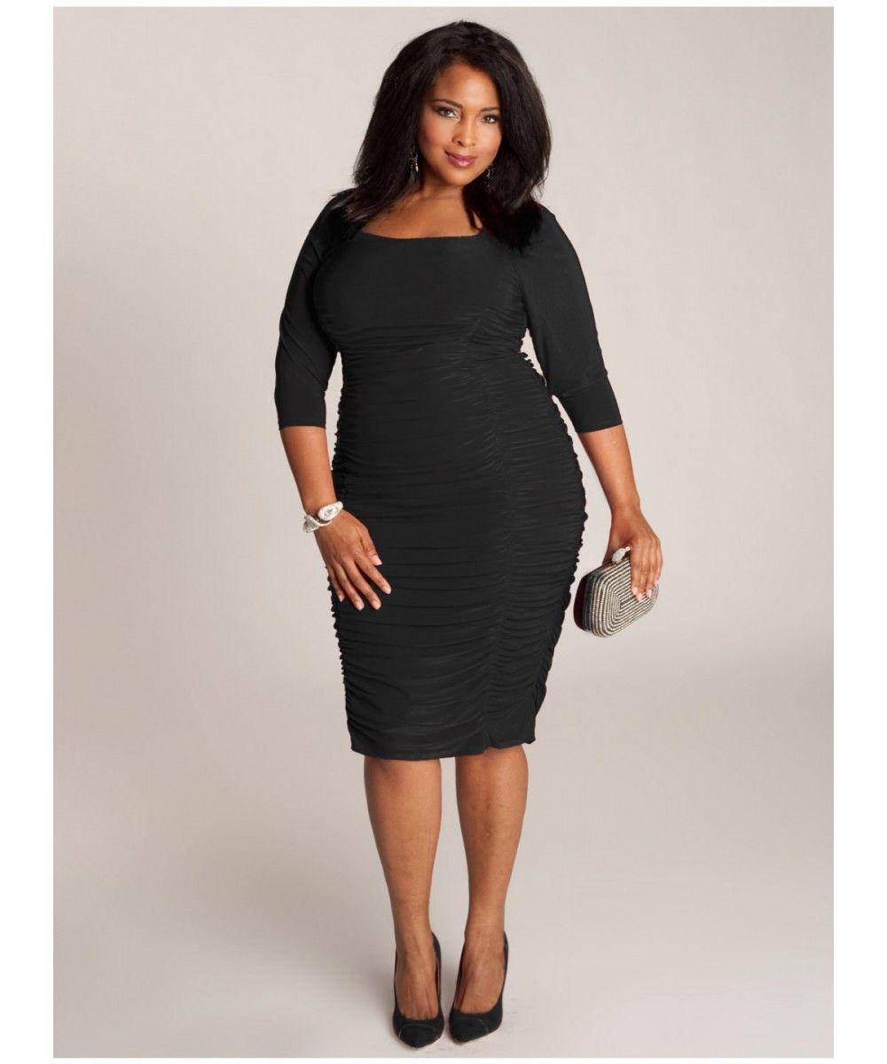 660a28f2d moda tallas grandes vipmujer vestido negro