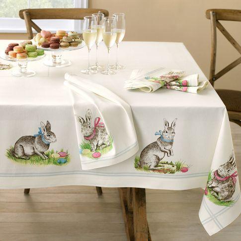 New Printed Bunny Tablecloth 99 95 Decoracao De Pascoa