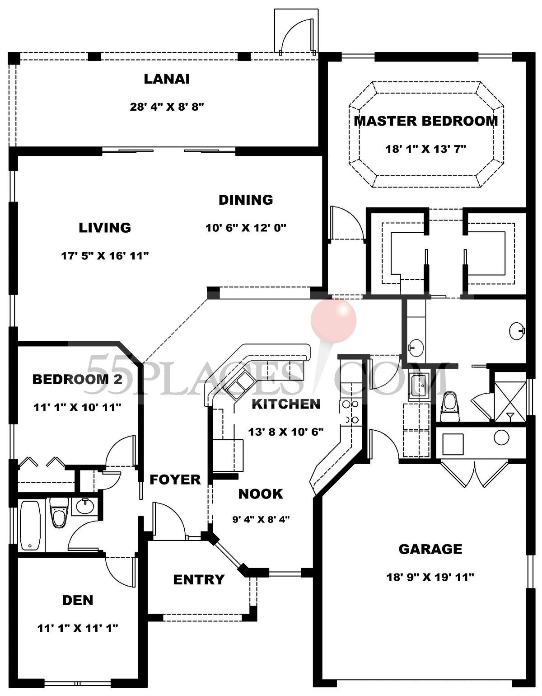 The Villages Florida Lantana Floor Plan Google Search Floor Plans The Villages Florida House Floor Plans