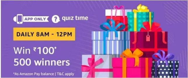 (1 December Answers) Amazon Quiz Answer & Win Rs 100