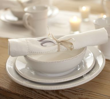 Pottery Barn Gabriella dinnerware. My NEW dishes. I love how crisp and clean they & Pottery Barn Gabriella dinnerware. My NEW dishes. I love how crisp ...