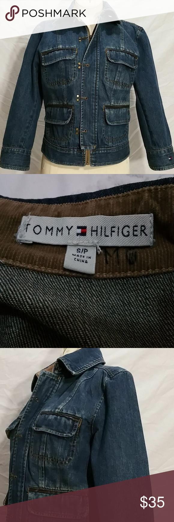 Tommy Hilfiger Denim Blue Jean Jacket Unique Sz S Streetwear Coat Blue Jean Jacket Hilfiger Denim [ 1740 x 580 Pixel ]