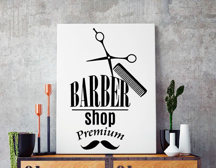 Vinilo adhesivo decoracion barber shop abckidslearn - Decoracion vinilos salon ...