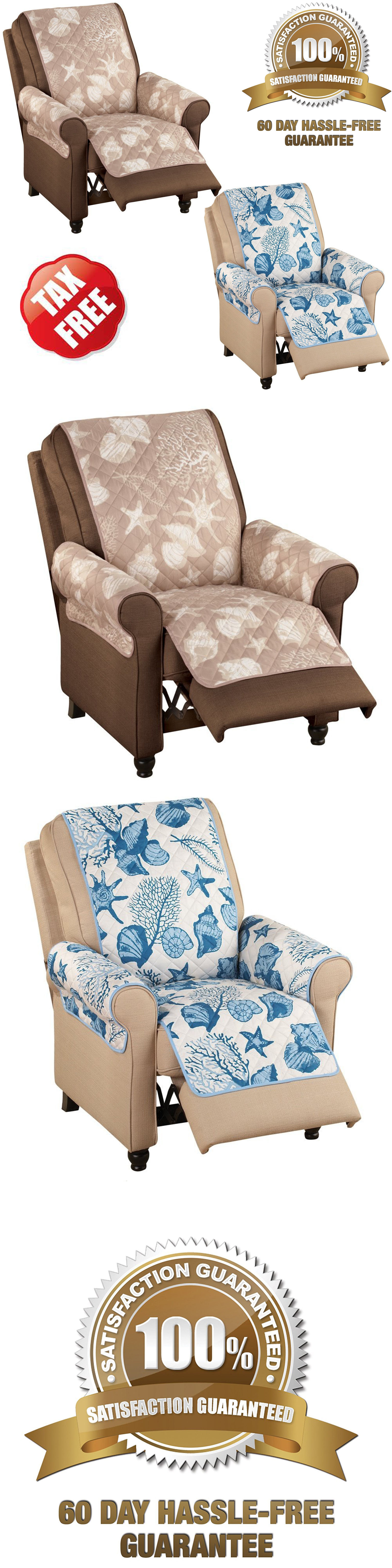 Slipcovers Recliner Chair Arm Covers Brown Blue Lazy Boy