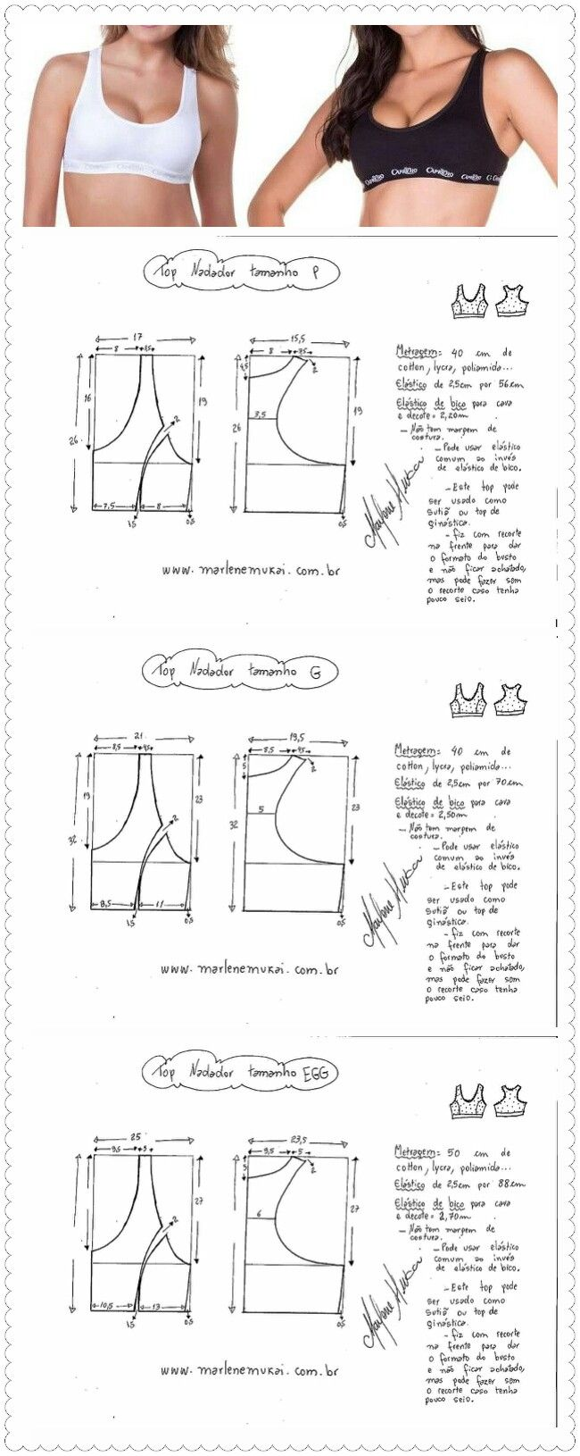 Sujetador Deportivo | costura | Pinterest | Costura, Patrones y Ropa