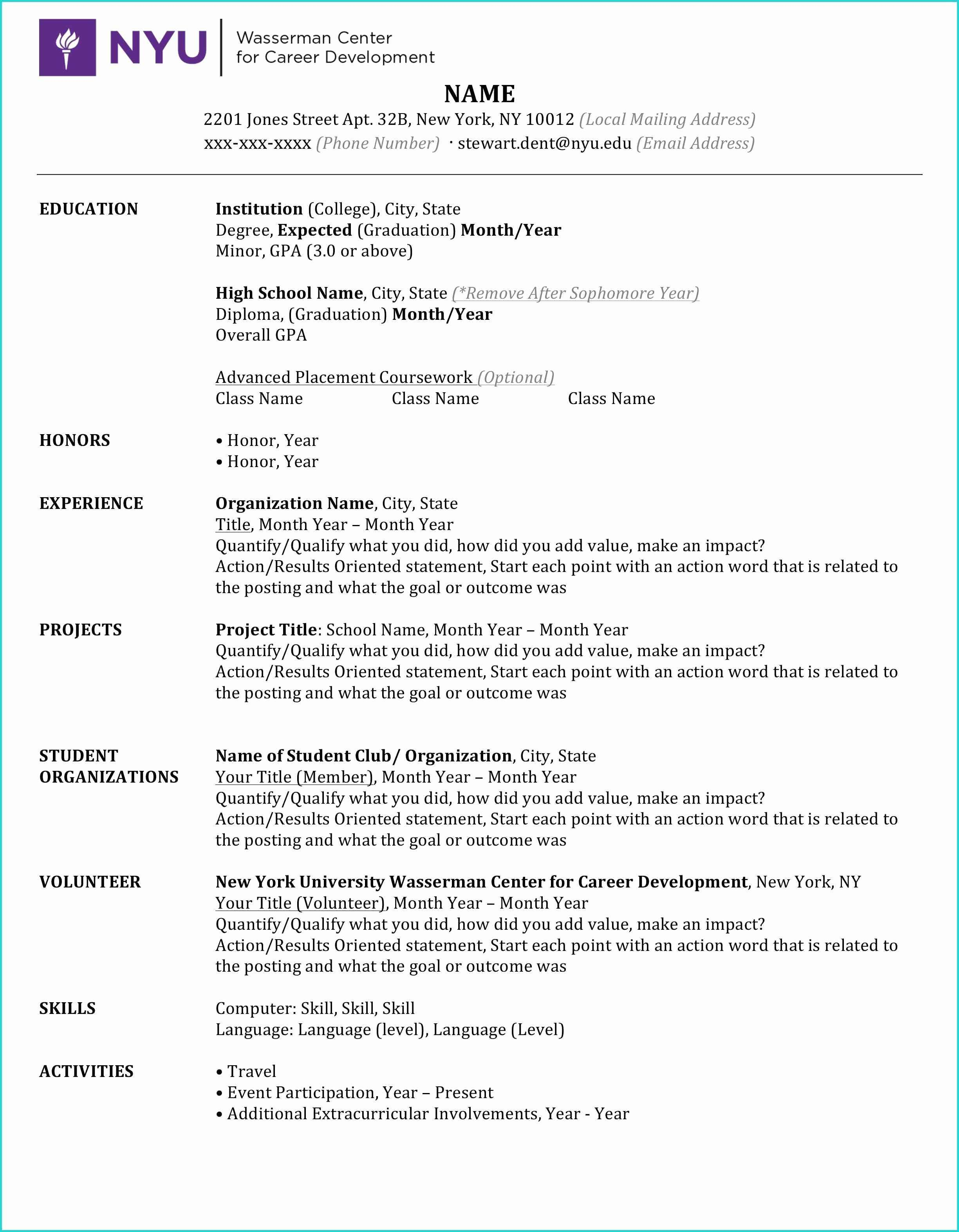 Free Resume Guide Template Resume examples, High school