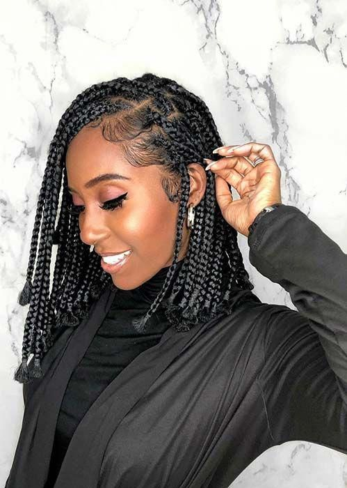 23 Short Box Braid Hairstyles Perfect for Warm Weather | Page 2 of 2 | StayGlam