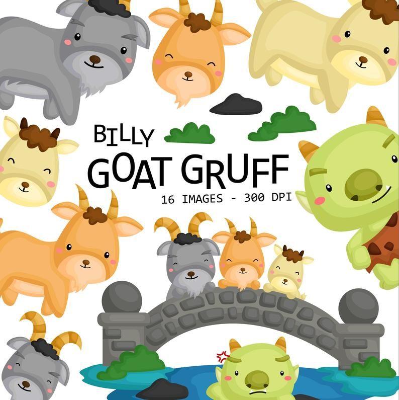 Billy Goat Gruff Clipart Cute Animal Clip Art Story And Etsy Clip Art Animal Clipart Art Story