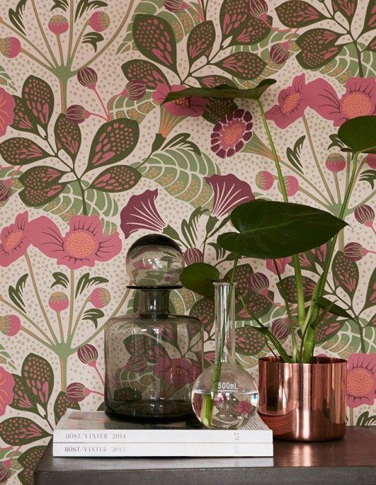 Papel Pintado Ancasi Vintage Blumen Wallpaper Tapetenmuster Und Tapeten