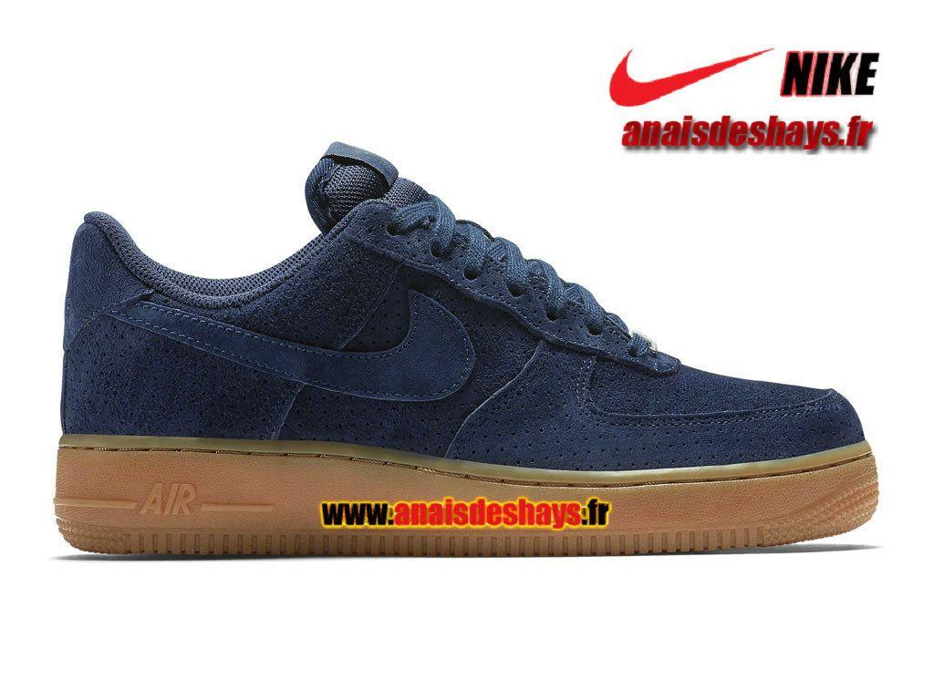 Boutique Officiel Nike Air Force 1 ´07 Suede Low Homme Bleu nuit marine/ Gomme