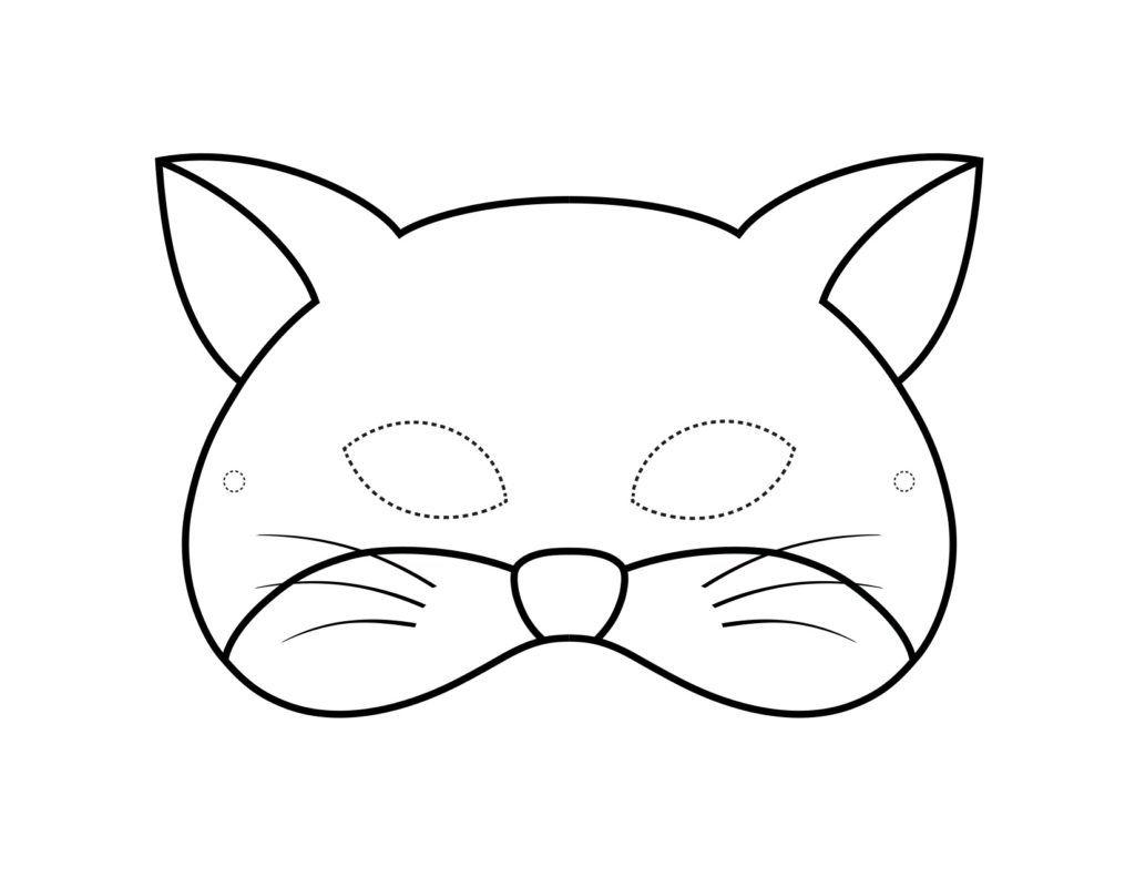 Mascaras De Animales Para Colorear Bebeazul Top Cat Mask Diy Cat Mask Printable Animal Masks
