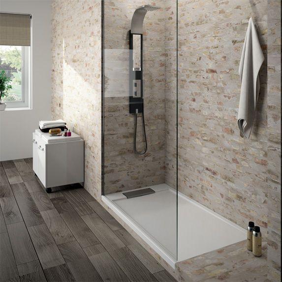 Exemples de douches l italienne avec une marche - Realisation d une douche a l italienne ...