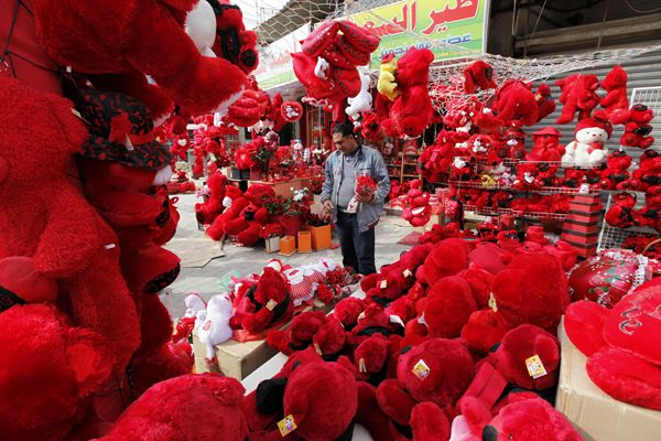 Balloons, teddy bears, and kissing contests.