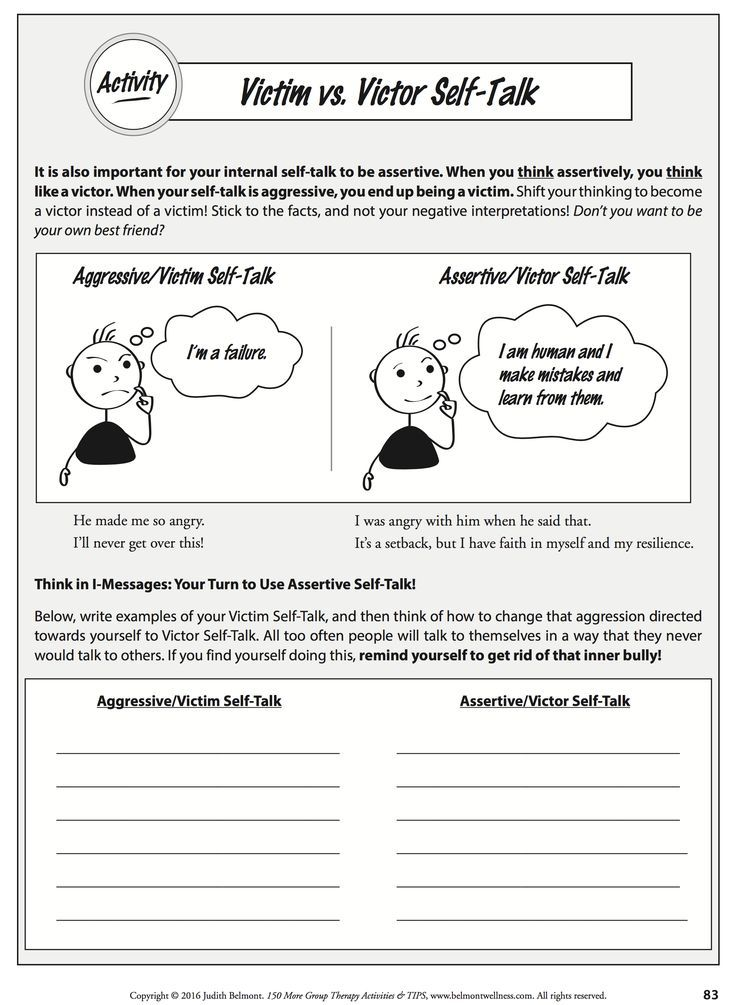 This Downloadable Handout Helps To Change Victim SelfTalk To