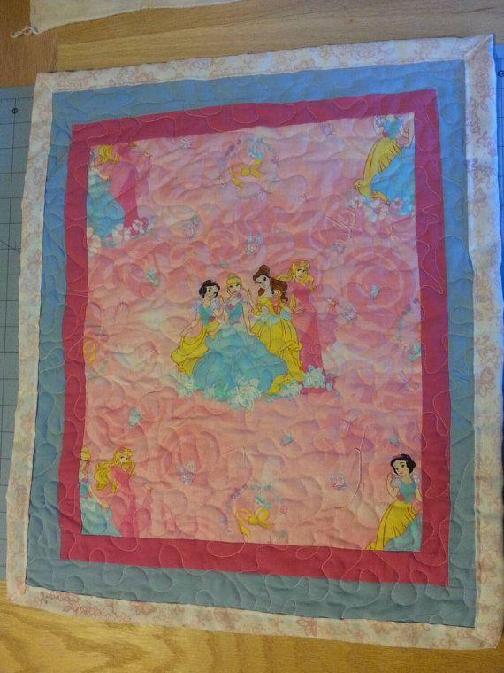 DOLL BEDDING Handmade princess doll quilt for 18 inch dolls like ... : doll quilt size - Adamdwight.com