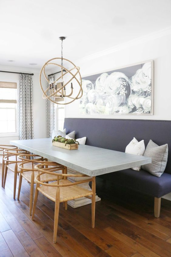 9 Beautiful Kitchen Nooks With Banquette Seating Dining Table With Bench Dining Room Seating Custom Dining Tables