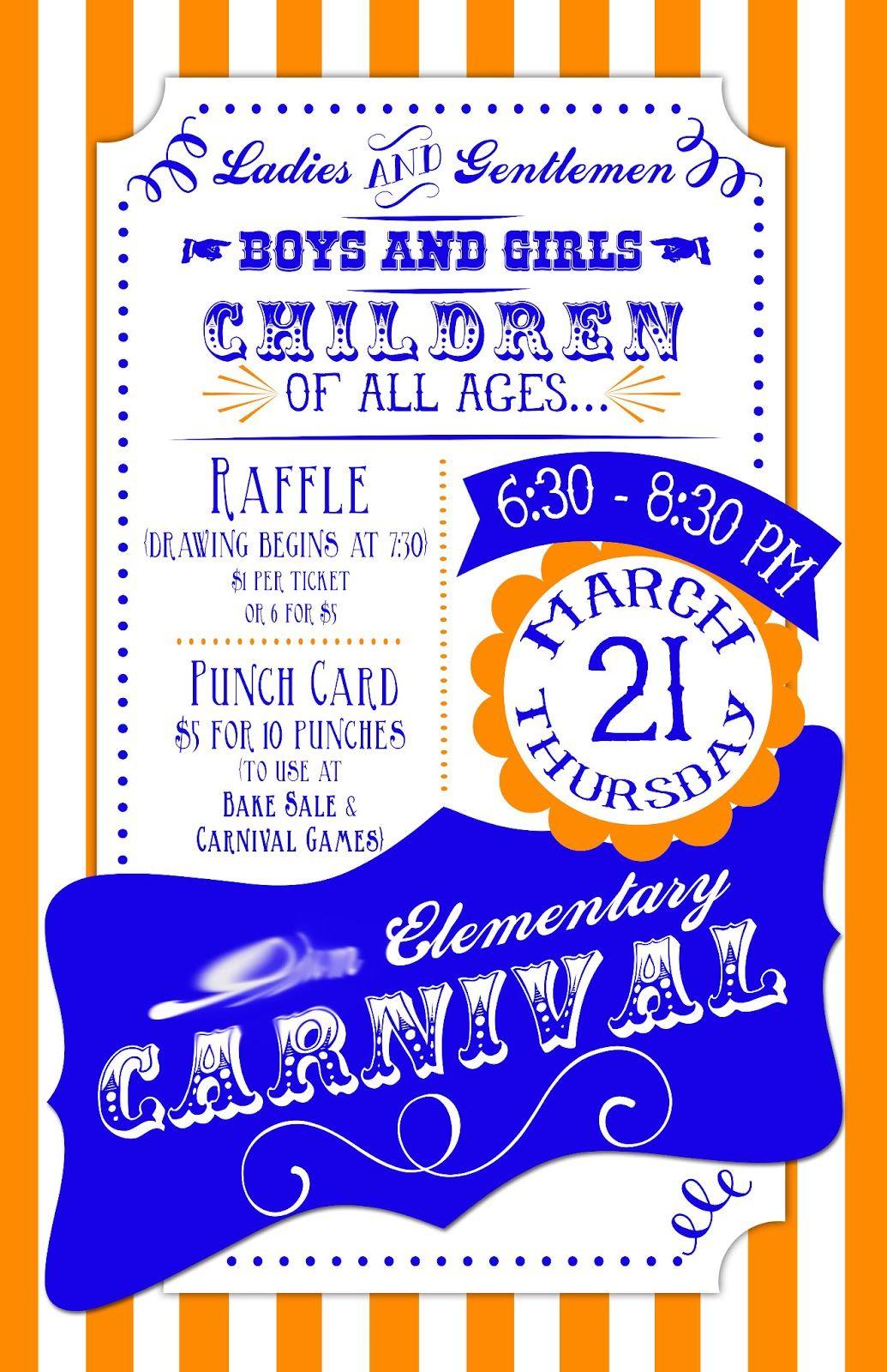 Elementary School Carnival Flyer Google Search Family Fun Night School Carnival Spring Carnival