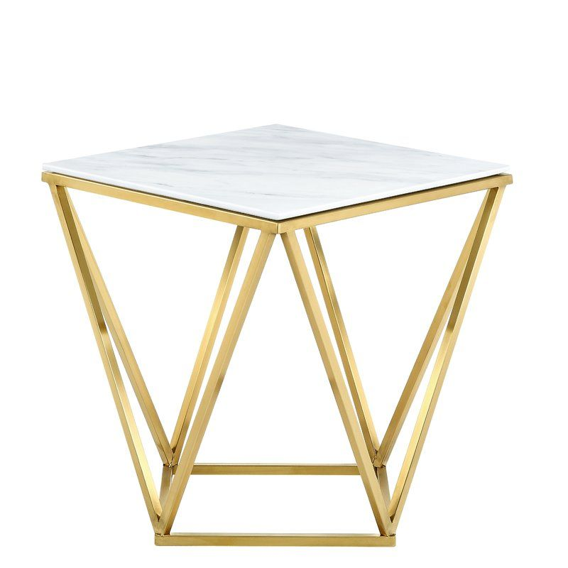 Robeson End Table In 2020 Side Table Marble End Tables End Tables