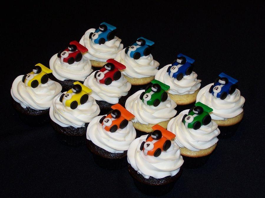 cupcake chocolate race decor kids ideas Pinterest Car cakes