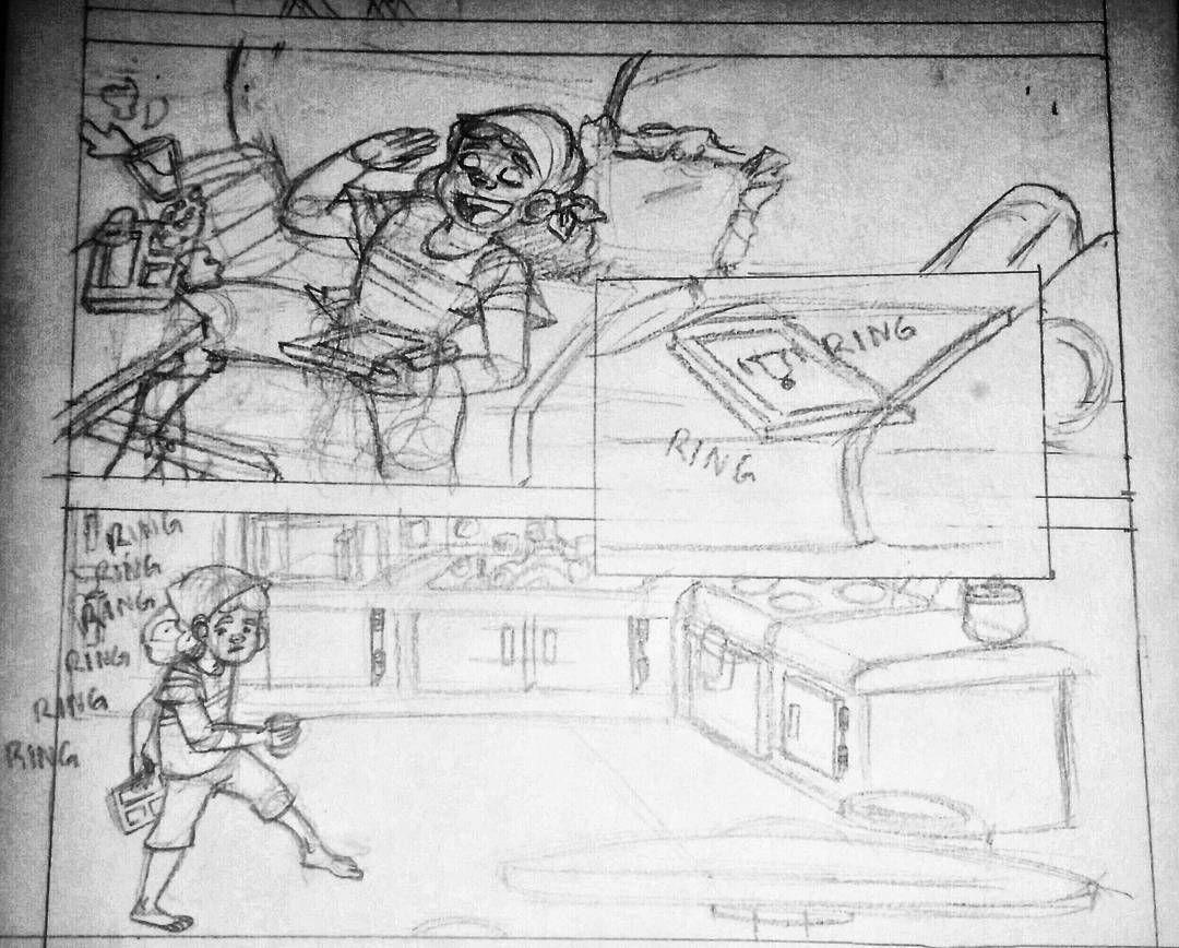 #comic #sketching #pencils #process. #character  pencil line art for my webcomic  Materials: mix media sketchbook paper pencil hb and ruler