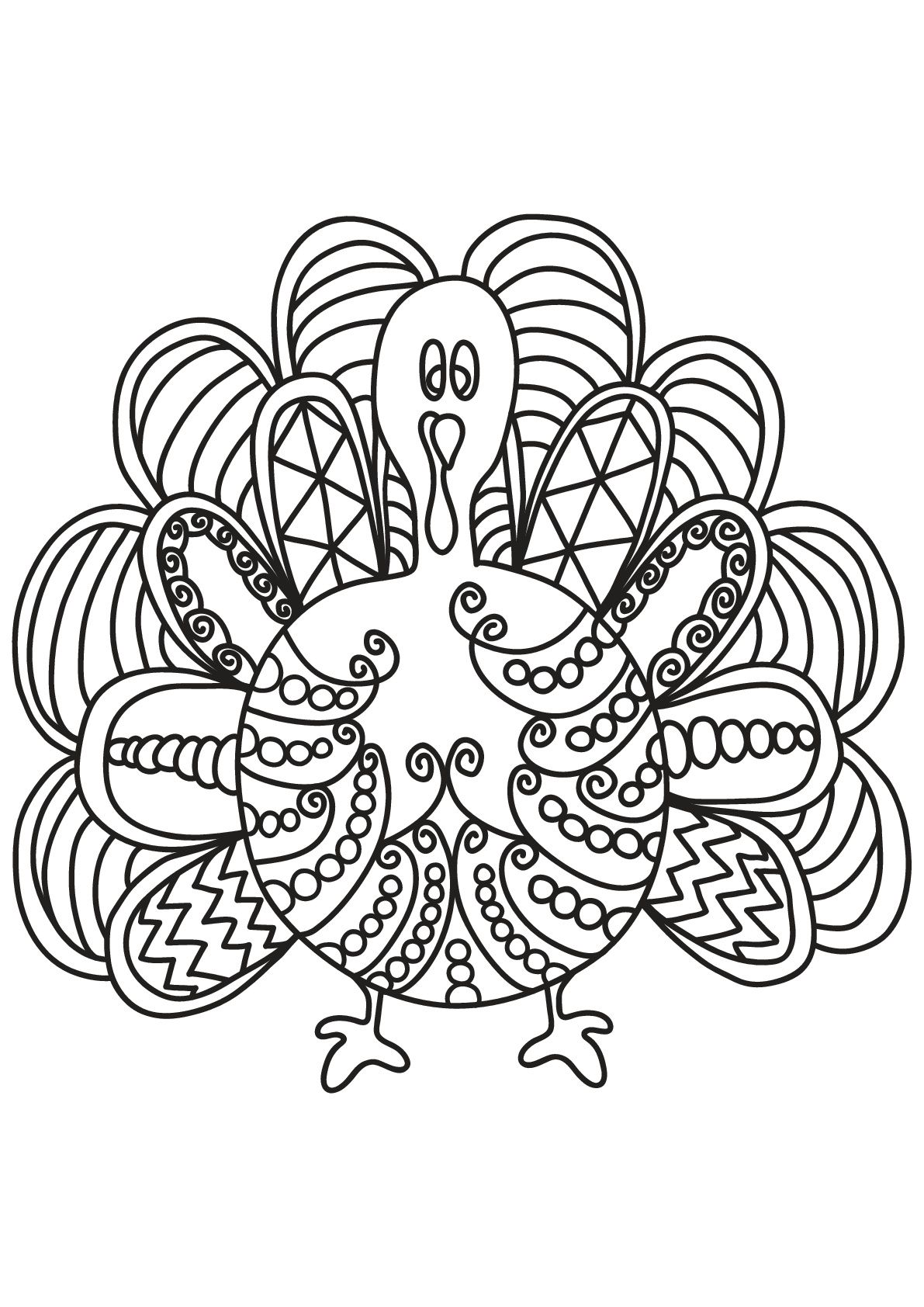 Free book turkey Birds Coloring Pages for Adults Just