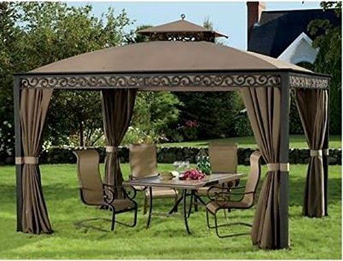 10 X 12 Outdoor Gazebo Spacious With Aluminum Frame Mosquito Netting Zippered Privacy Panels Living Home Http Www Am With Images Outdoor Gazebos Gazebo Pergola