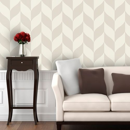 Classic Chevron Wallpaper - Plastered - Wall Decals at Hayneedle
