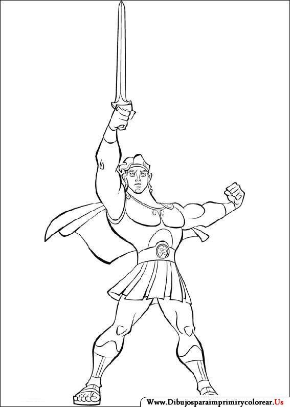 Dibujos de Hercules para Imprimir y Colorear | Hercules coloring ...