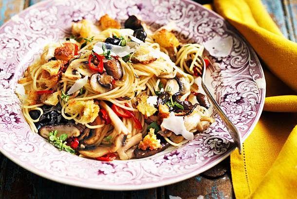 Unser beliebtes Rezept für Pilz-Spaghetti und mehr als 55.000 weitere kostenlose Rezepte auf LECKER.de.