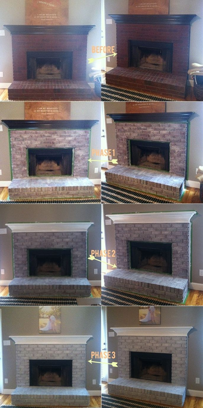 Whitewashing an easy tutorial Fireplaces DIY and crafts and