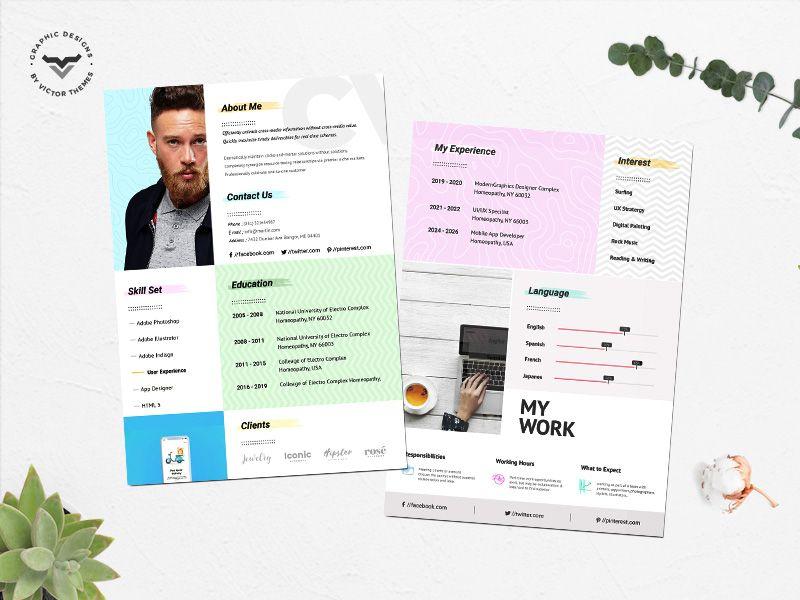 Creative CV Template Creative cv, Creative cv template