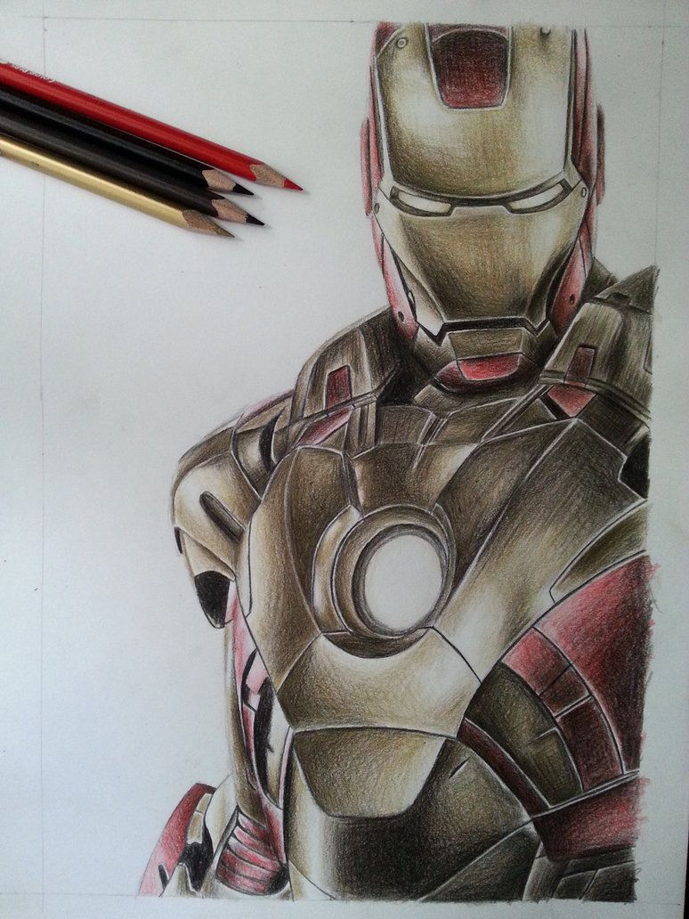 Iron Man Color Pencil By Deadart1 Universo Marvel En 2019 Marvel