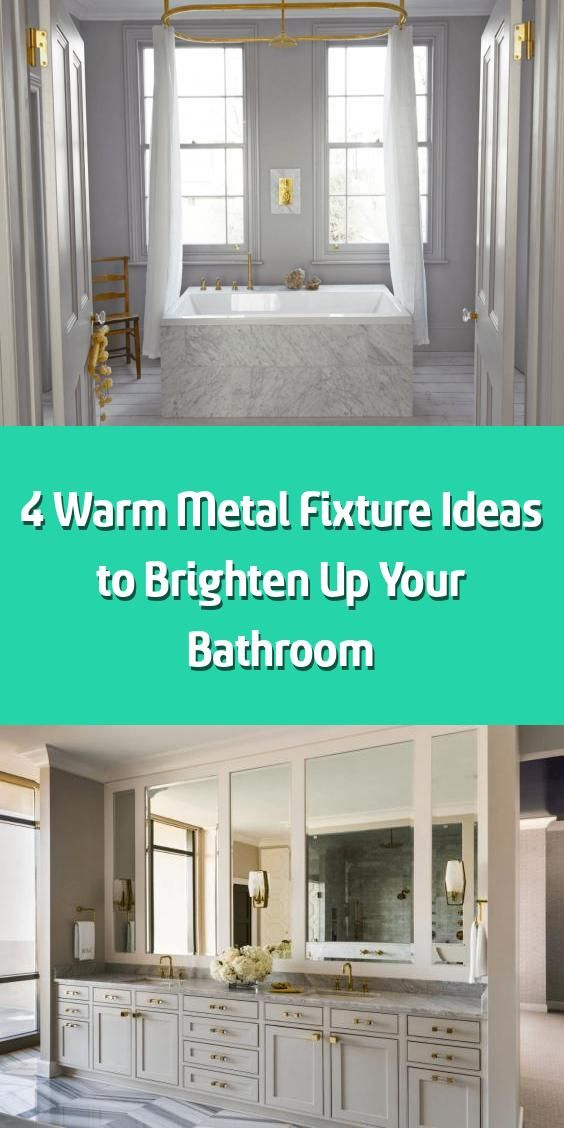 Photo of 4 Warm Metal Fixture Ideas to Brighten Up Your Bathroom – We all know that desig…