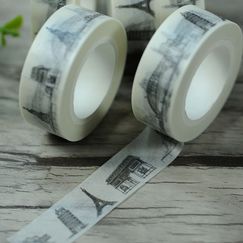 Scotch Decorative Masking Tape Enchanting 15Cm Wide Miracles Eiffel Tower Washi Tape Scrapbooking Design Ideas