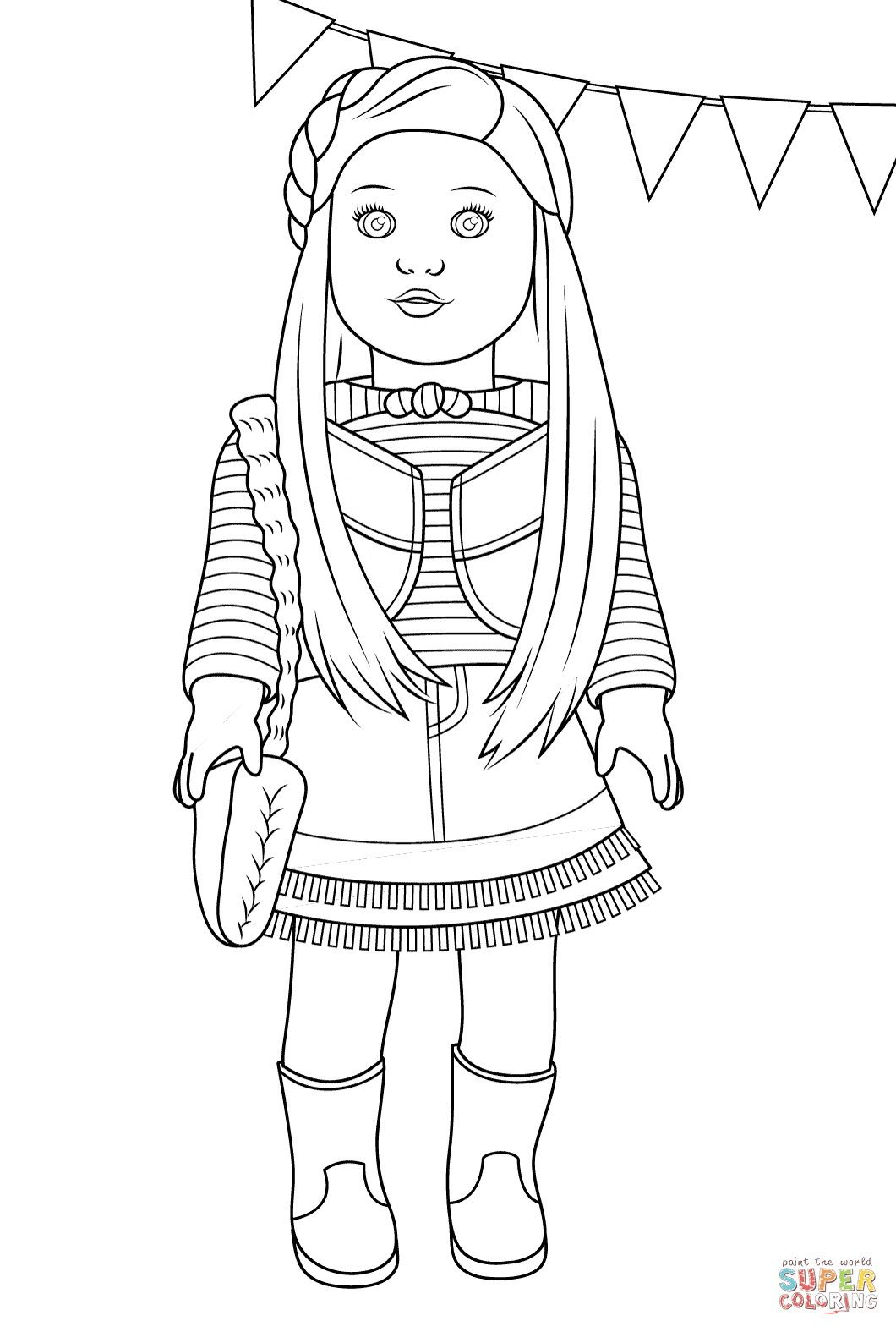 American Girl Coloring Pages Free From The Thousand Photographs