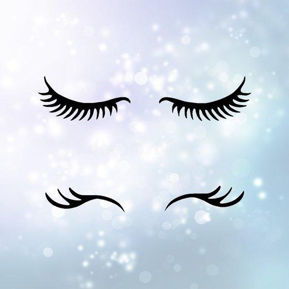 7ac30eb5cd1 Eye Lashes SVG Download Unicorn Eyelashes Clipart cut with Sillhouette or  Cricut Vinyl Cutter