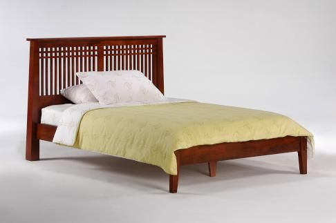 Pacific Mfg Spices Bedroom Solstice Platform Bed Complete Cherry