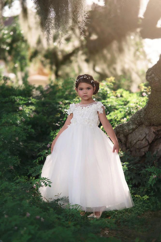 Helena Gown White Pre Order Toddler Flower Girl Dresses Flower