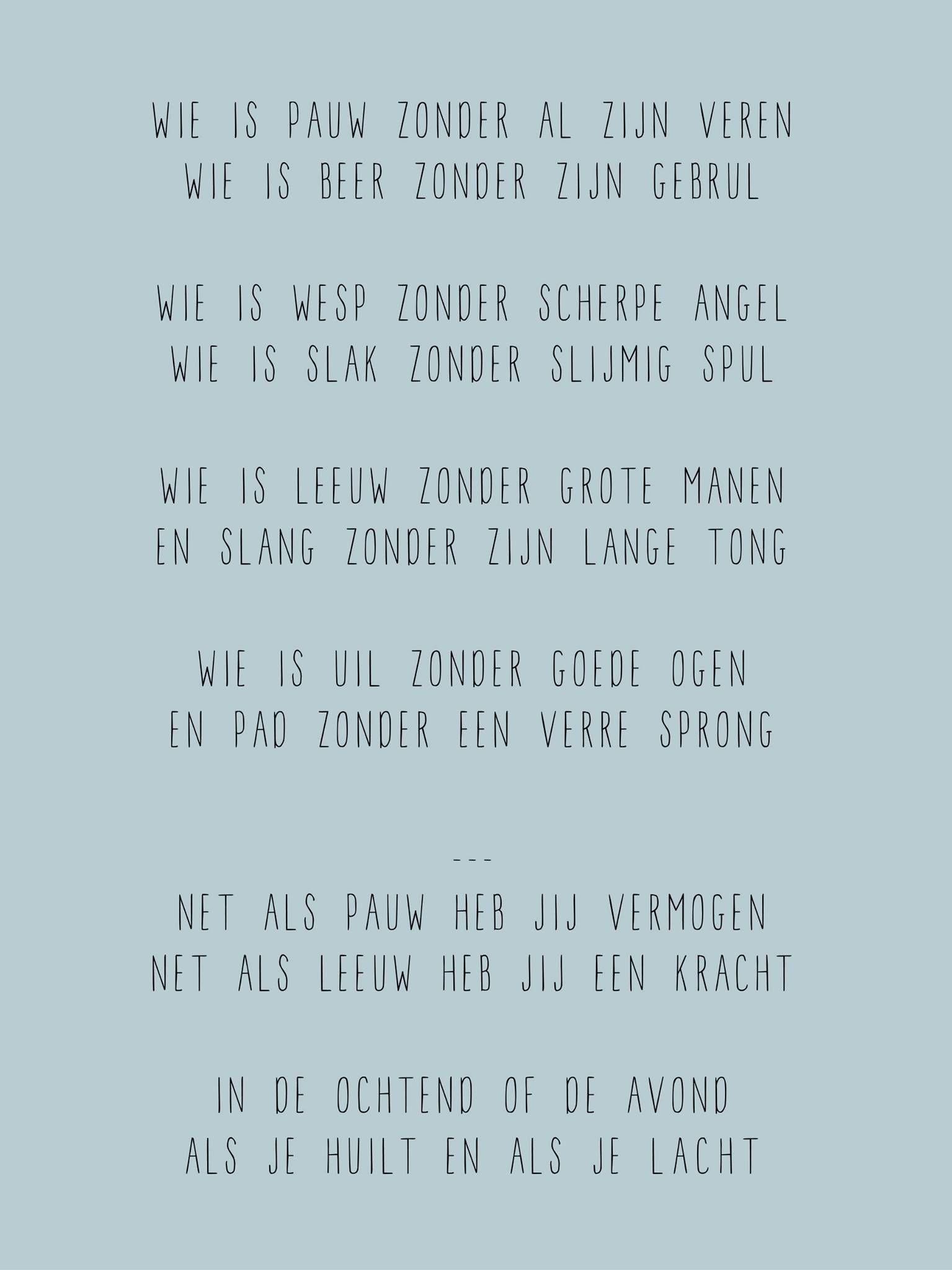 Ongekend Wie is pauw - Geboorte tekstje, versje, persoonlijk gedichtje BF-77
