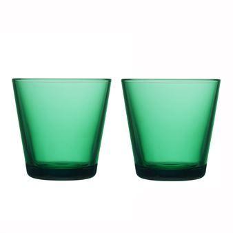 Iittala Gläser kartio glas 21 cl 2 stk smaragdgrøn iittala and cl
