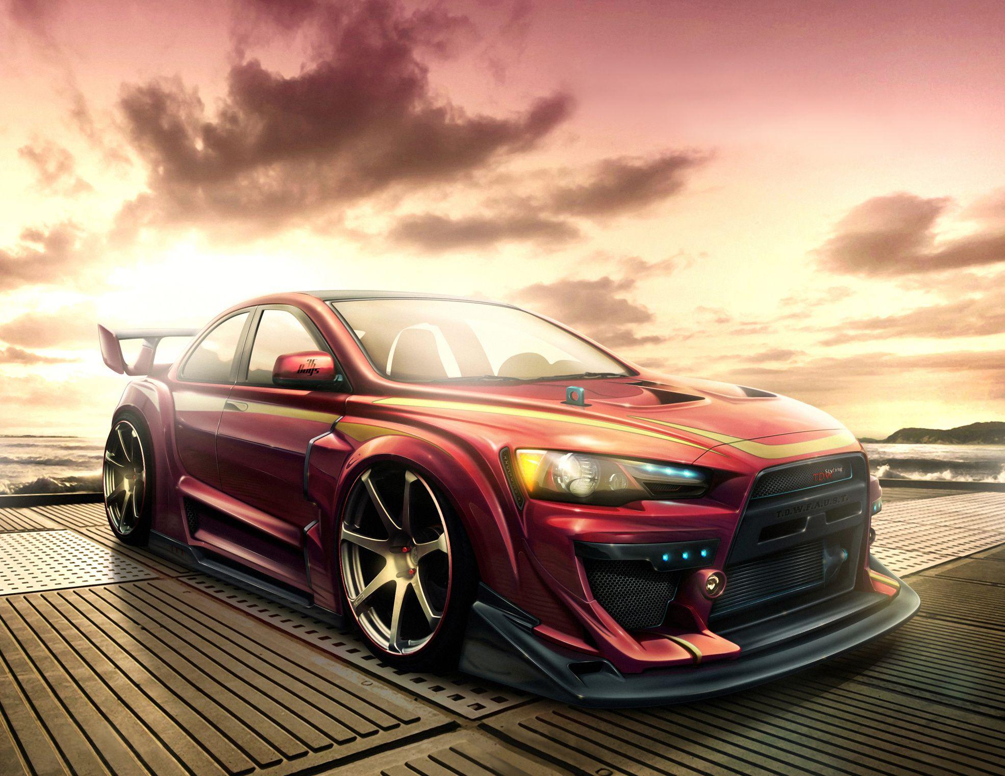 Download Wallpaper Mitsubishi Lancer Evo X Cars Free Desktop With