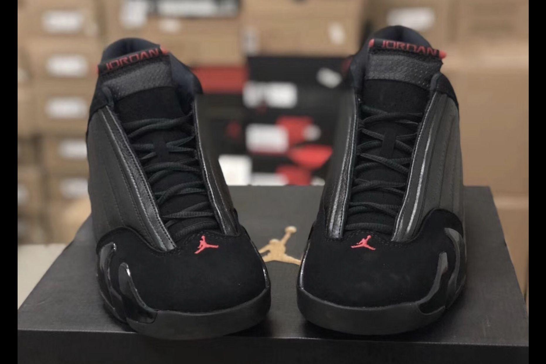 best cheap 36554 6d2a7 Men's Jordan Retro 14 - Black, Varsity Red, Black - 87471003 ...