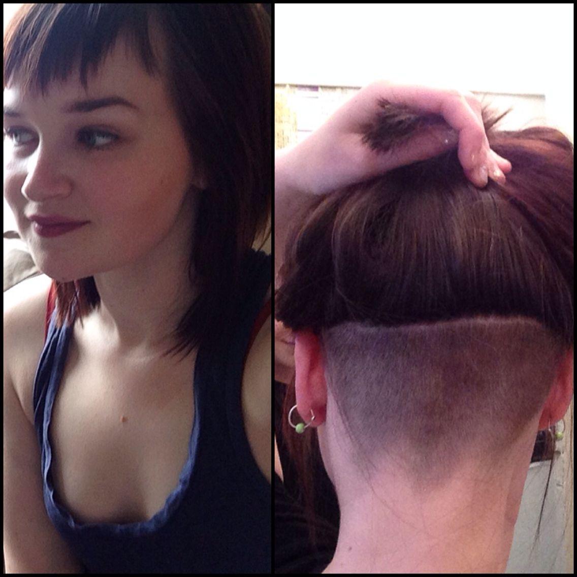 Haircut short bangs shaved nape shornnape nape undercut haircut short bangs shaved nape shornnape nape undercut girls with shaved buycottarizona Image collections