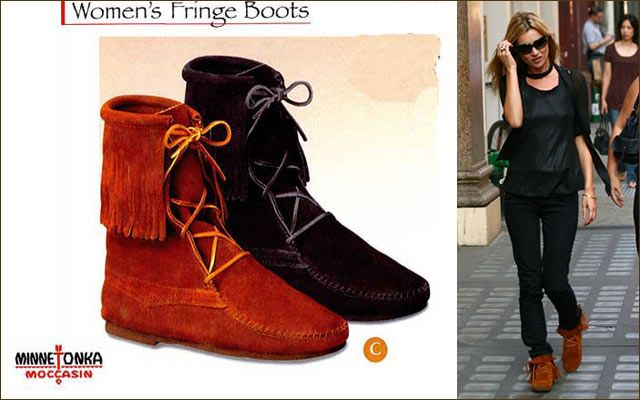 Rakuten Minnetonka Ankle Hi Fringe Tramper Boots Shopping Japanese Products From Japan